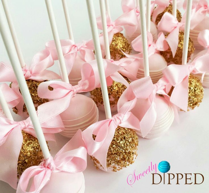 Pink and Gold Cake Pops                                                                                                                                                      More