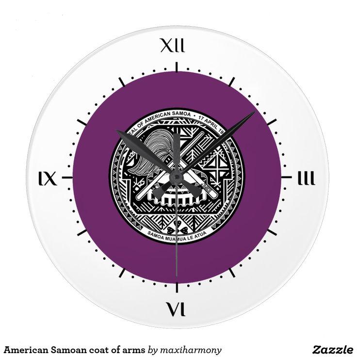 American Samoan coat of arms Wallclock