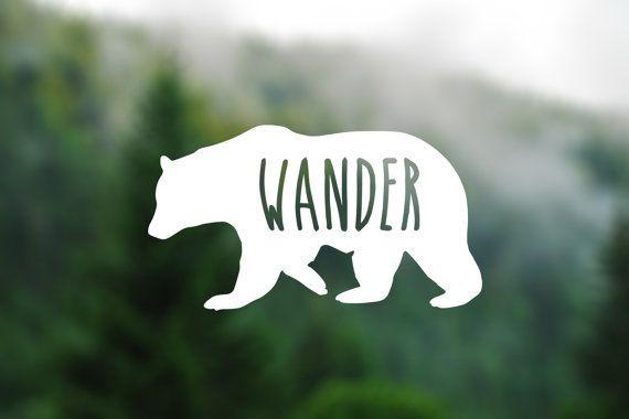 DECAL [Wander Bear] Vinyl Decal, Car Window Decal, Laptop Decal, Laptop Sticker…