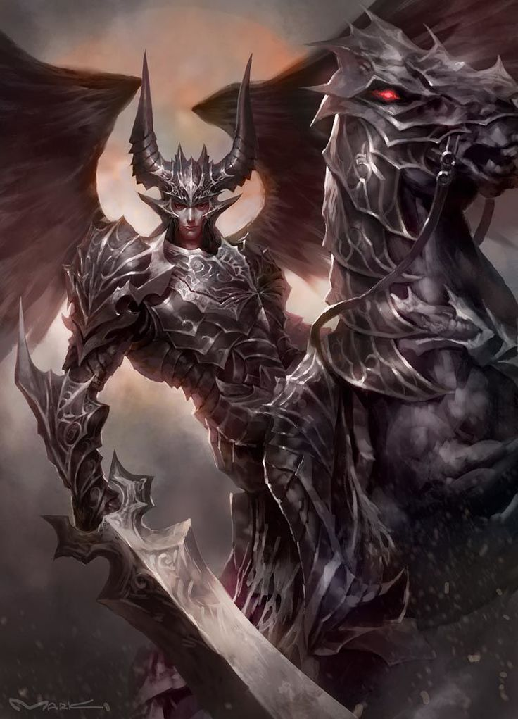 демонический рыцарь картинки районе поселка