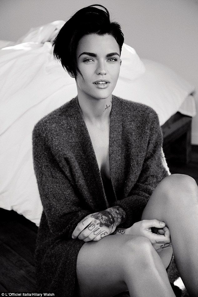 Stripped back: Ruby Rose looks stunning fashion editorial for L'Officiel Italia's May issue