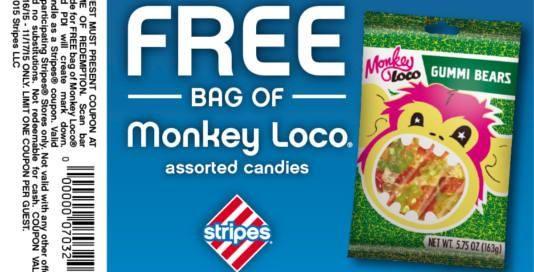 FREE Monkey Loco Gummi Bears at Stripes Stores on http://www.icravefreestuff.com/