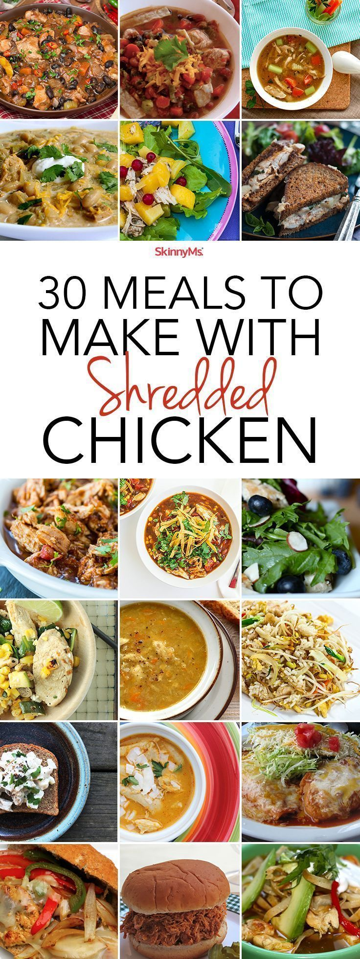 Never run out of ideas again! Try these 30 Meals to Make with Shredded Chicken.