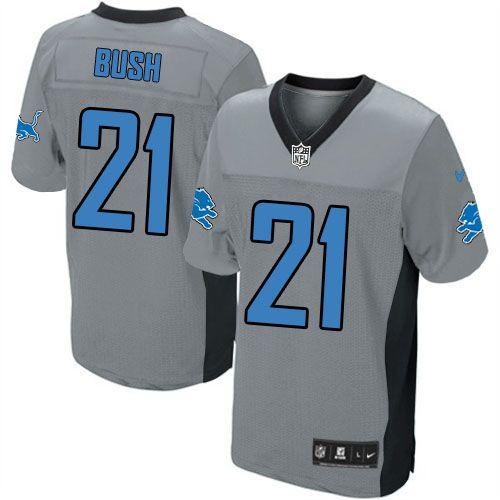 2e81e658d ... amazon elite grey vapor jersey limited mens nike detroit lions 21  reggie bush grey shadow nfl
