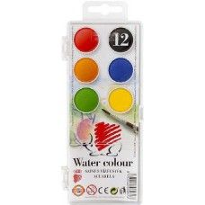 Ico süni - Kisgombos vízfesték készlet 12 darabos - Akvarell festék - Koh I Noor - 439Ft - Vízfesték - Vízfesték készlet - Akvarell festék