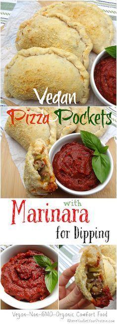 ¡Adictivos bolsillos de pizza vegana / calzones! Han sido un éxito para la familia y ...