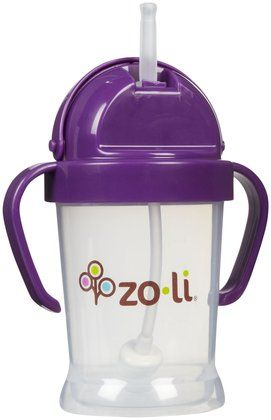 Zoli Baby BOT Straw Sippy Cup - Purple - 6 oz - Free Shipping