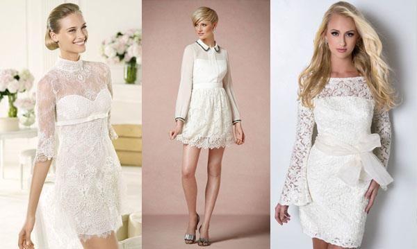 Платье кружевное короткое с коротким рукавом