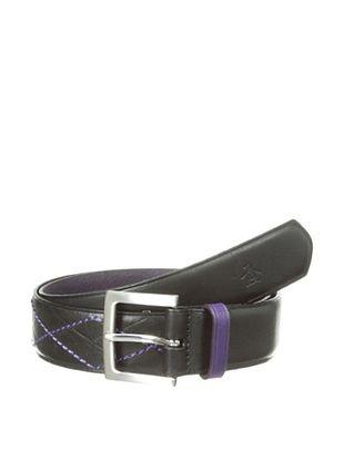 44% OFF Original Penguin Men's Argyle Leather Belt (Black)
