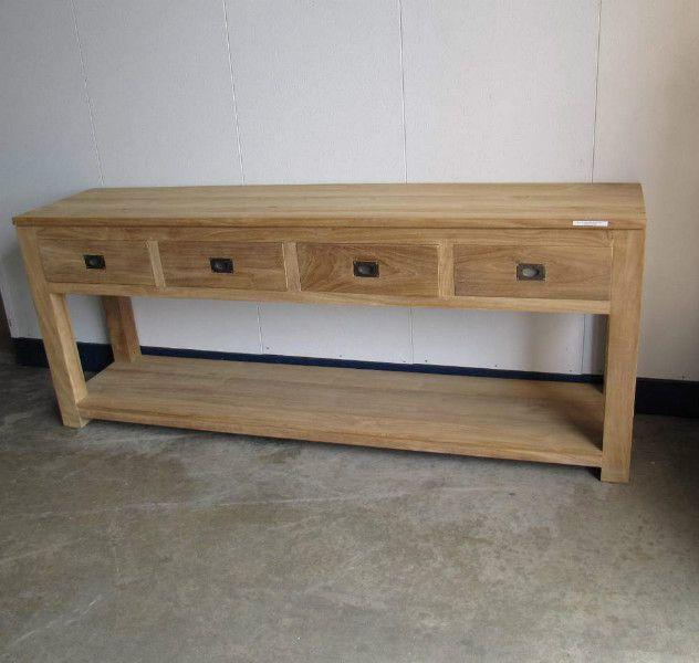 grote teakhouten wandtafel - m13d - teakhouten wandtafels - Goedkoopste in teakhouten meubelen en brocante meubels - Teak Paleis