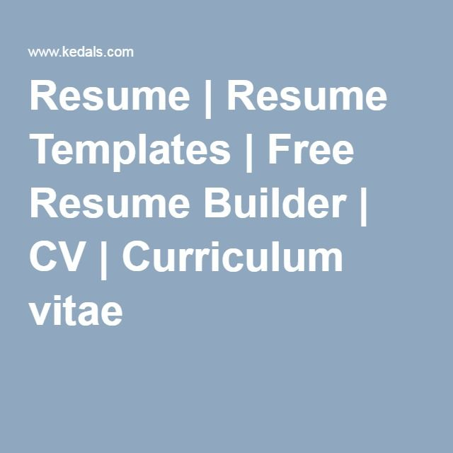 The 25+ best Free resume builder ideas on Pinterest Resume - print free resume