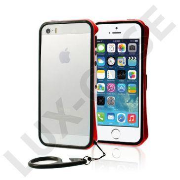 Clean Vapor (Sølv - Rød) iPhone 5/5S Lettvektet Bumper