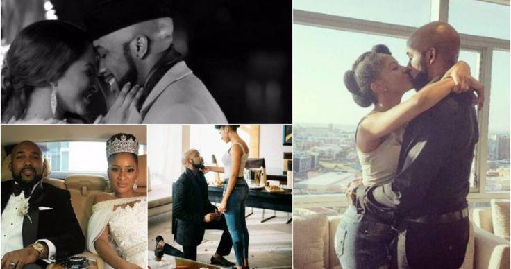 Nigerian celebrities felicitate with Banky W, Adesua Etomi