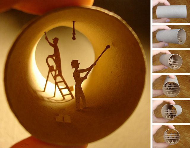 Rouleaux: Anastassia Elias New Book of Toilet Paper Roll Sculptures sculpture paper illustration