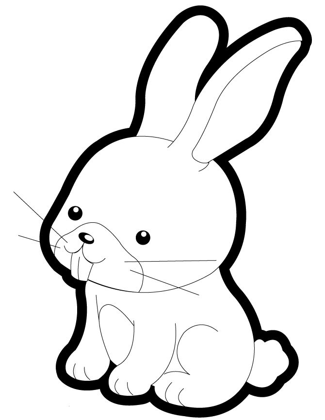 Versatile image within bunny coloring pages free printable