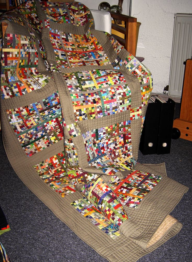 6600 Tiny Scraps Quilted   by edeltraudewert