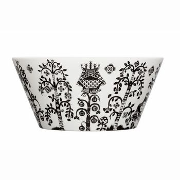 iittala Taika White / Black Serving Bowl - Click to enlarge