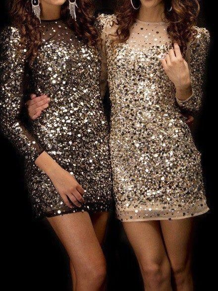 My answer to outdoor NYE concert. Bronze sequins, Tights and thigh high boots, a camel coat w/miu miu necklace and cashmere gloves. it's all about the sparkle