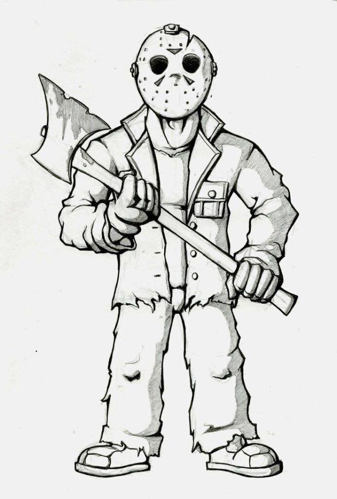 Dibujos De Halloween De Miedo Dibujos De Halloween Personajes De Terror Dibujos De Terror