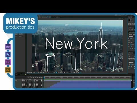 After Effects - Adding Sketchy Line Drawings on a Stock Footage Tutorial
