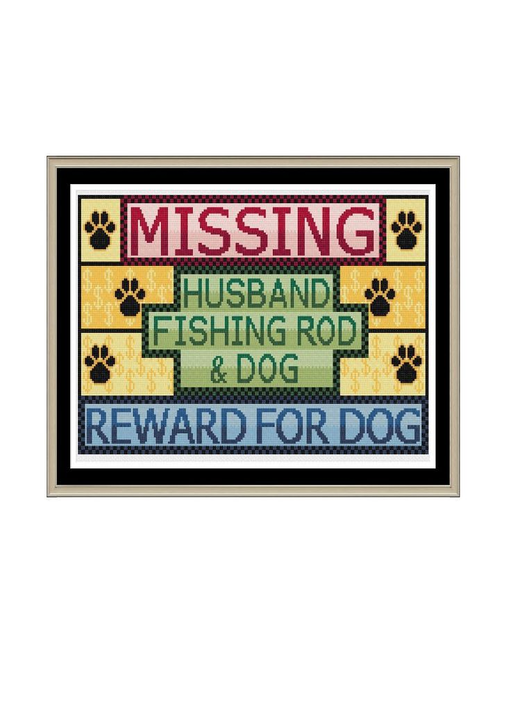 Missing Dog by StitcherzStudio on Etsy