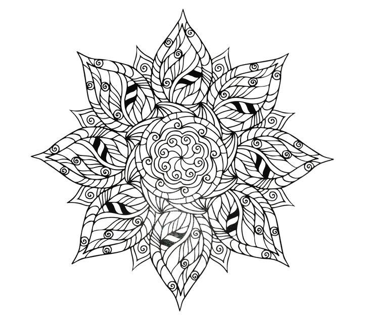 173 besten Coloring Pages Bilder auf Pinterest | Malbücher, Mandala ...