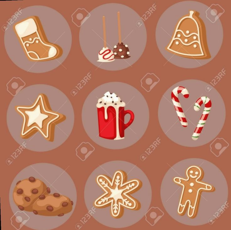 15 christmas food illustration sweets in 2020 christmas
