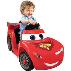 Fisher-Price Power Wheels Lil' Lightning McQueen 6-Volt Battery-Powered Ride-On ... I want this for Jude!