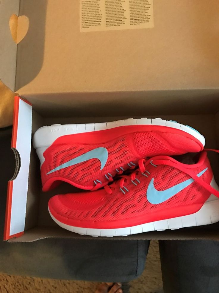Nike Free 5.0 Ladies Shoes Sneaker Shoes Trainers Trainers Red New run Size 6.5  | eBay