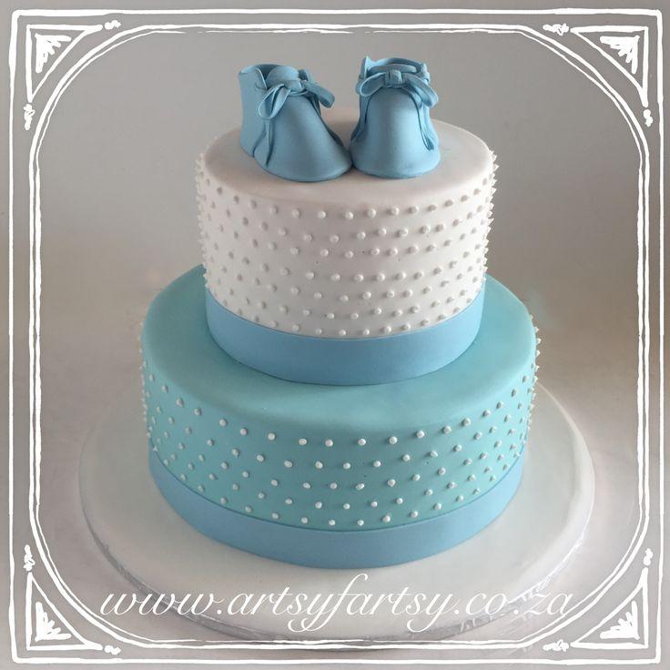 Baby Booties Cake #babybootiescake
