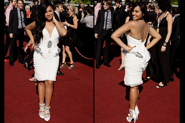 Jessica Mauboy in J'Aton Couture at ARIA's 2009