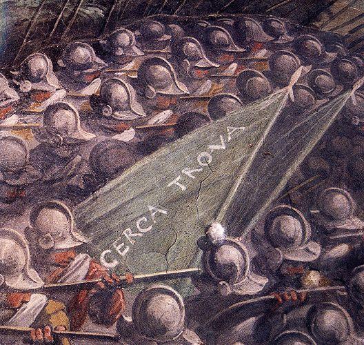 Firenze palazzo vecchio vasari dettaglio della for Battle of marciano mural
