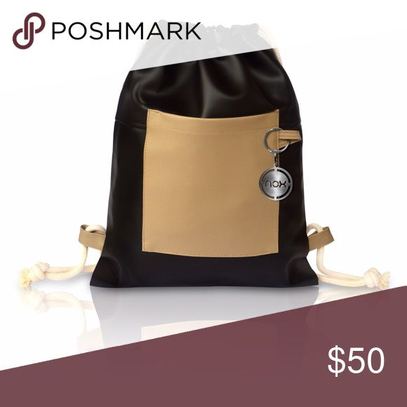 Drawstring bag / Faux leather Nox Bags are made out of Faux leather and manufacturer in Lima/Peru. They are practical, comfortable, and stylish. Nox bags Bags Backpacks