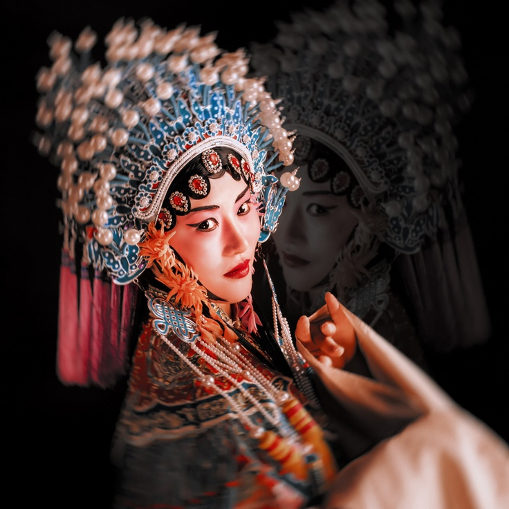 Chinese opera performer by Weichuan Liu