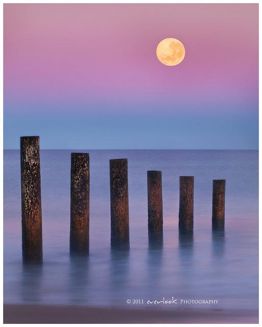 Moon Fall, Moana Beach, South Australia - By Dylan Toh