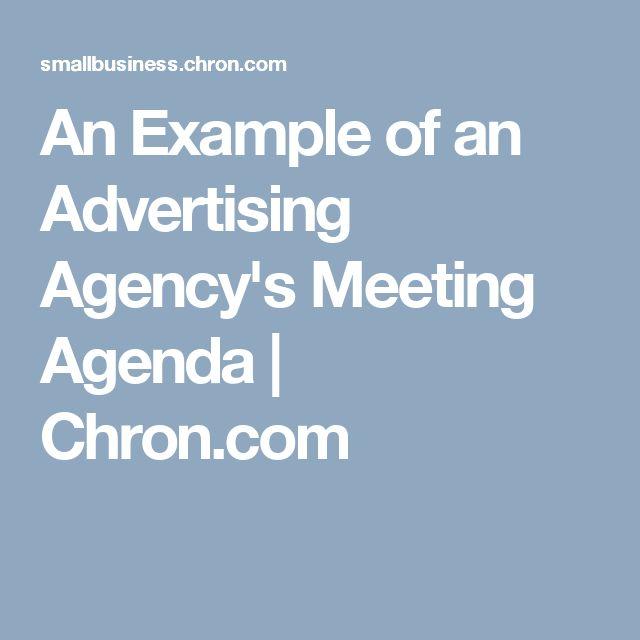 An Example of an Advertising Agency's Meeting Agenda | Chron.com
