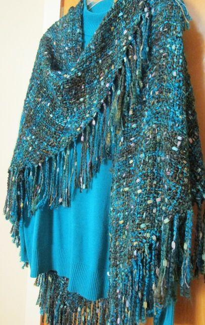 6 ft Tri-loom shawl - Sandra's Stitches