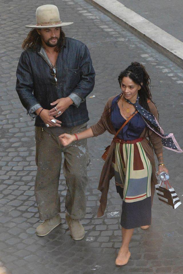 Jason Momoa y Lisa Bonet, Roma, 2015