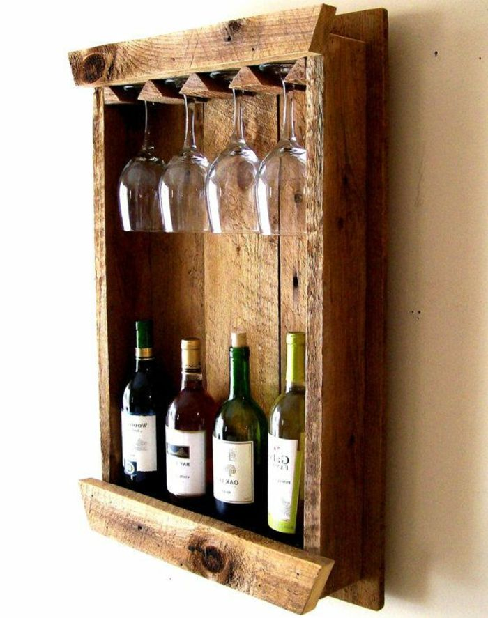 Build Your Own Wine Rack 65 Design Ideas For Taking Away Making Furniture Yourself Diy Rustikale Weinregale Weinregal Selber Bauen Weinglashalter