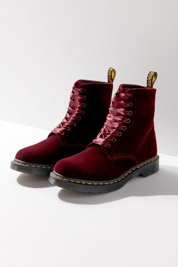 7857813acb3 Dr. Martens 1460 Pascal Velvet Boot | ~⭕️❌ | Boots, Bootie boots ...