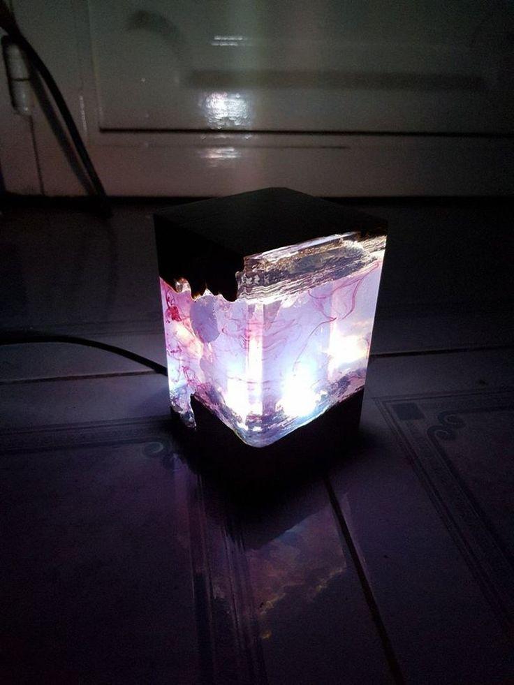 Epoxy Led Lamp Epoxy Wood Lamp Resin Wood Lamp Diy Epoxy