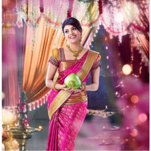 Online Shopping for Pink kanchipuram silk saree | Kanchivaram Sarees | Unique Indian Products by Neena Collections - MNEEN45858598990