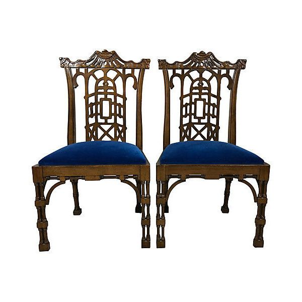Pre Owned Chinese Chippendale Style Chairs Pair   1 895    liked on  Polyvore featuring. Die besten 25  Second hand chairs Ideen auf Pinterest   St hle im