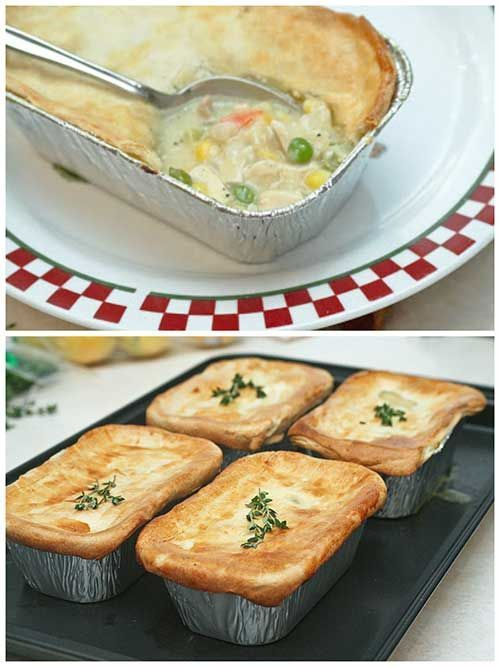Freezable Chicken Pot Pie Recipe - Made this with my son.  It is so yummy!