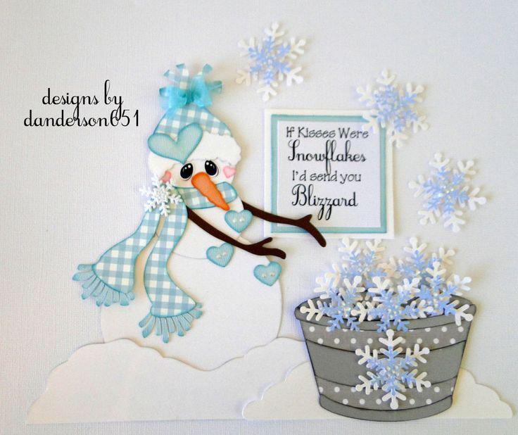 Snowman Winter Paper Piecing PreMade 4 Borders Scrapbooks Albums danderson651