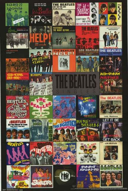 A fantastic poster of picture sleeve album covers from the singles released by The Beatles! Fully licensed - 2013. Ships fast. 22x34 inches. Check out the rest of our FABulous selection of Beatles pos