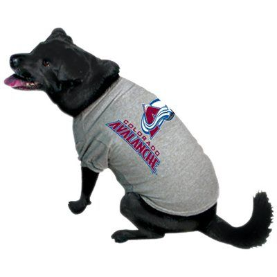 Colorado Avalanche Gray Dog T-shirt