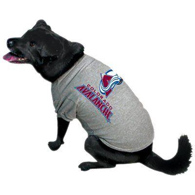 Colorado Avalanche Gray Dog T-shirt
