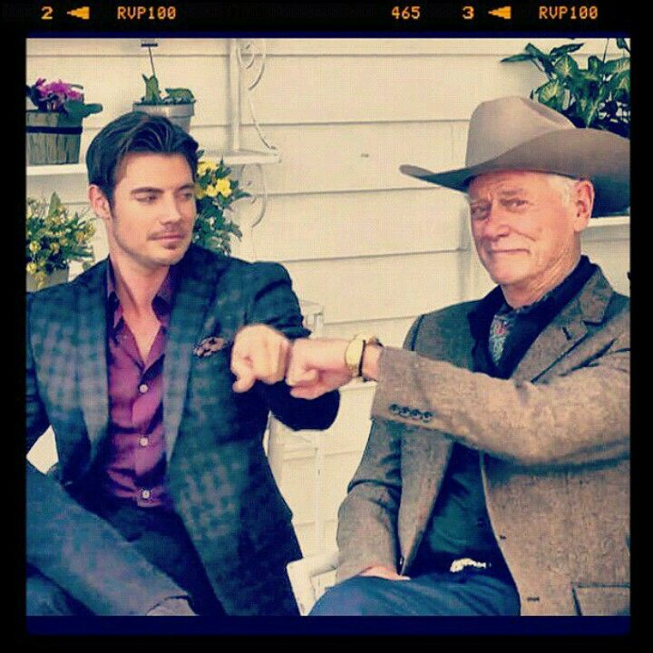 Larry Hagman (RIP) Josh Henderson (John Ross JR from the TV show Dallas)
