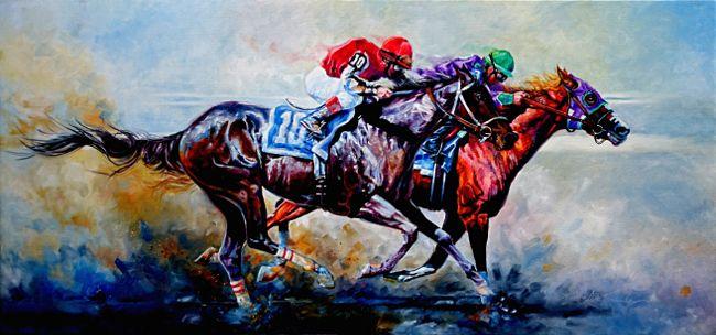 Sports Art Paintings And Prints By Hanne Lore Koehler